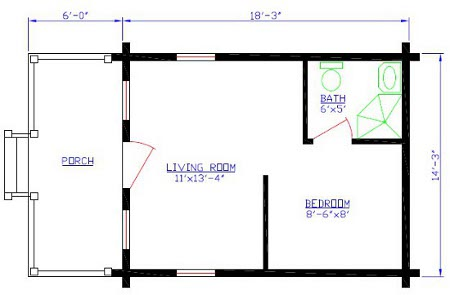 Mountain Series Cabin Floorplan 7 and 8