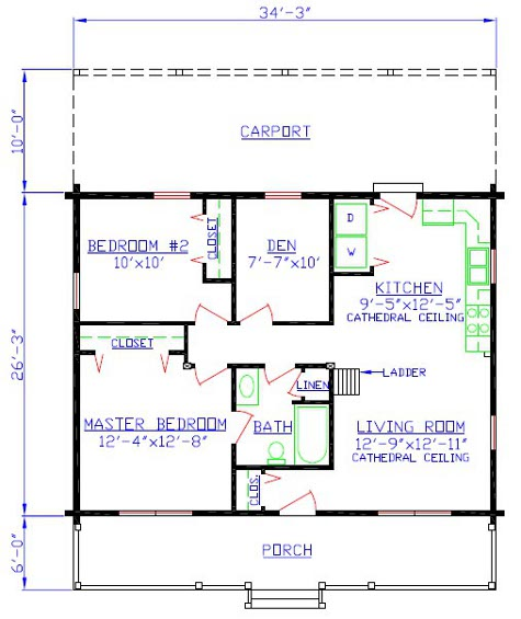Mountain cabin floor plans floor plans for Mountain cabin floor plans