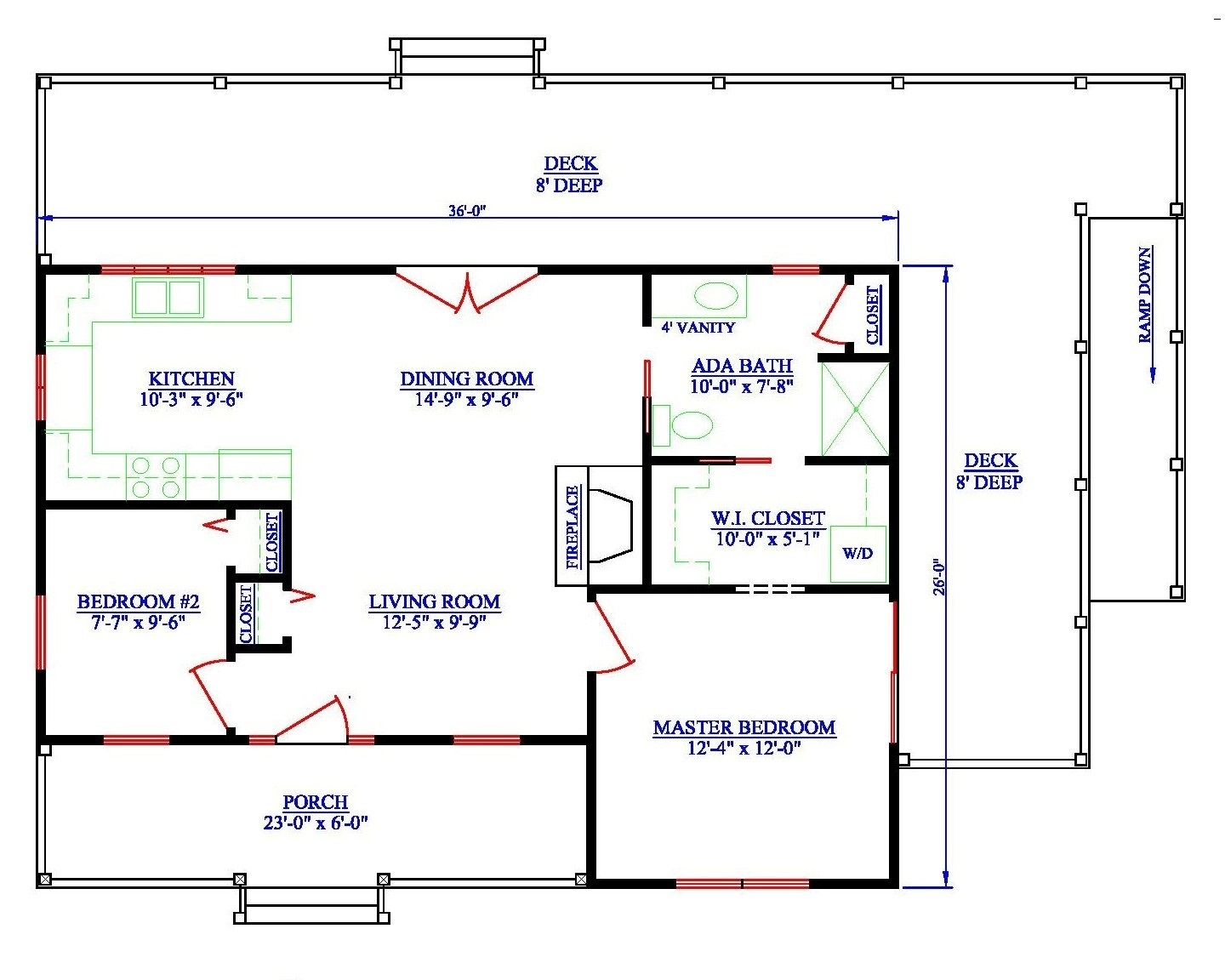 Wheelchair Accessible Home Plans Bathroom Sink And