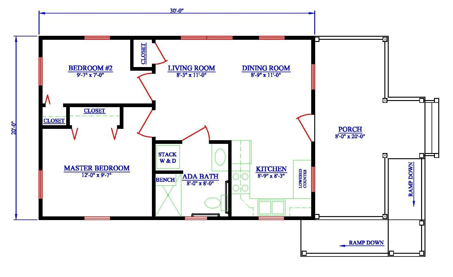House plans handicap accessible house plan 2017 for Small wheelchair accessible house plans
