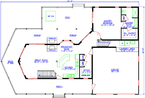 The Hideaway First Floor Plan