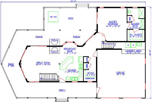 The Hideaway First Floor Plan