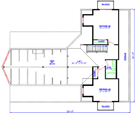 The Hideaway Second Floor Plan