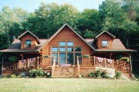 charming yet classy log home