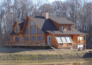 Efficient house plans for Custom luxury log homes