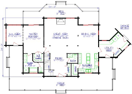 Maximizing log homes floor plans for Different floor plans for house