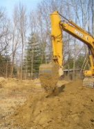 ground breaking for a new log home