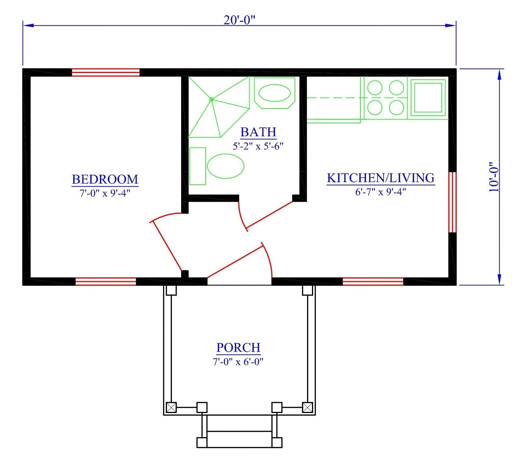 Tiny house designs the bachelor for Bachelor house plans