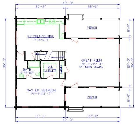 The moose river log home floorplan River house floor plans